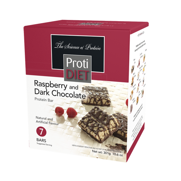 ProtiDiet Raspberry Dark Chocolate Bar