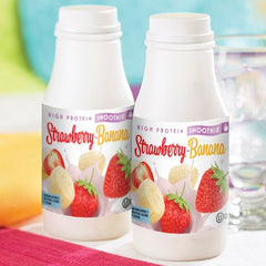 Strawberry Banana Smoothie in a bottle