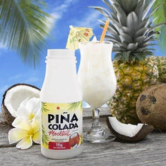Pina Colada Mocktail Drink in a bottle