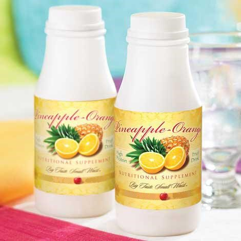 Pineapple Orange Fruit Drink in a bottle