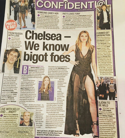 New York Daily News: Alina Baikova wearing THEO - May 2016