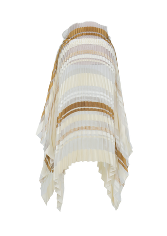 Pleated skirt with tails