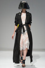 Maxi cloak with slash pockets