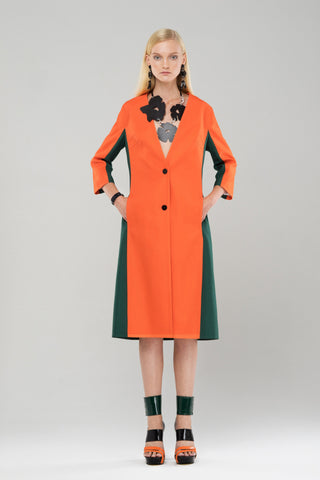 Reps orange and green cardigan