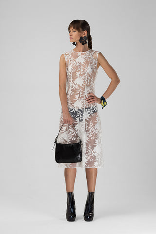 Sheer organdy lace dress