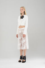 Sheer organdy lace skirt