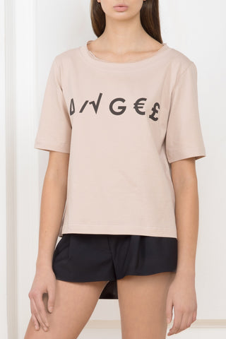 Designer's cut T-shirt with wings: angel