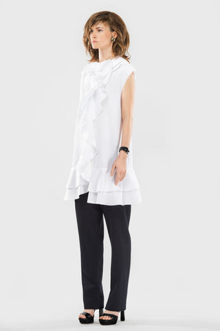 Rushed coton shirt dress