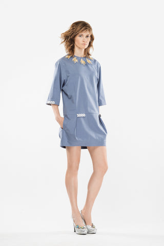 Light blue cotton dress