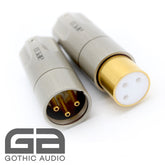 New AECO XLR Tellurium Copper Gold Plated Connectors AMI-1060G - 1 Pair (1x female & 1 x male)