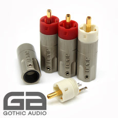 Gold Plated Tellurium Copper RCA Connectors Aeco ARP-4045 Set Of 4