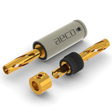 Banana Plug Tellurium Copper Gold Plated aeco ABP-1111, Set Of 4