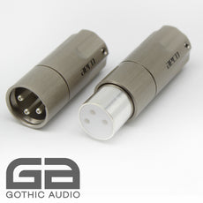 Pair Of AECO XLR Connectors AMI-1060S Silver Plated Copper Contacts