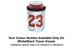 White/Black Koozie (Matching Number Color)