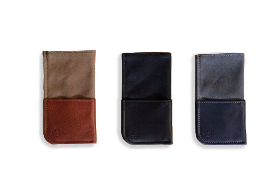 Leather and Canvas Wallet Sleeve