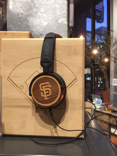 San Francisco Giants Wood Headphones