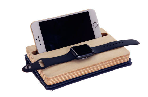 Dual Charging Dock Organzer for iPhone & Apple Watch