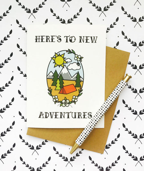 Here's to New Adventures - Card