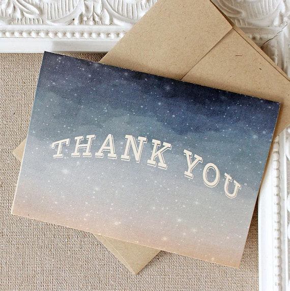 Thank You Notes set of 5 Starry Starry Night