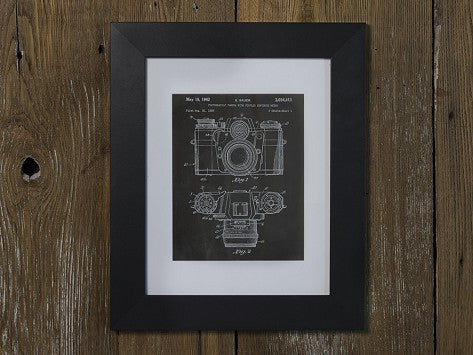 Patent Prints 8x10 Framed