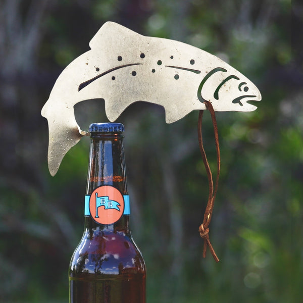 RAINBOW TROUT BOTTLE OPENER