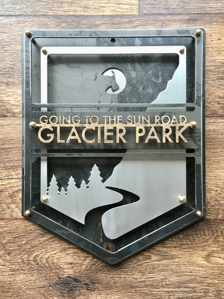 Metal Glacier Park Wall Decor