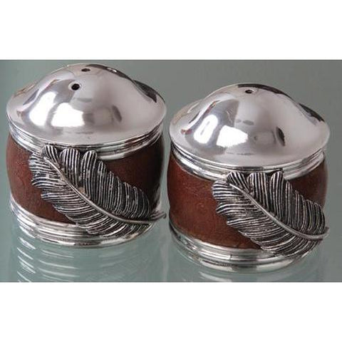 Salt & Pepper Cellars Saddle Brown - Usiba Lwe Nyoni Collection - Diana Carmichael-GoodiesHub