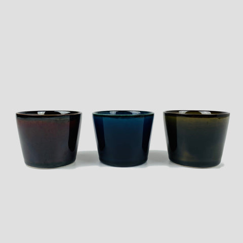Porcelain Cup - Brown, Blue and Green