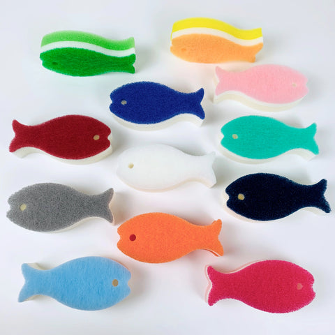 Fish Shaped Scrub Sponge