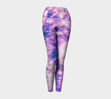 Flower of Life Clouds Yoga Leggings