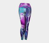 Gold Dragon Explosion Yoga Leggings