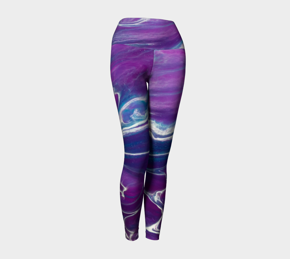 Gold Dragon Purple Yoga Leggings