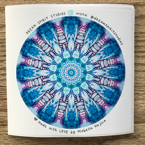 "By Design Mandala 4"" Sticker"