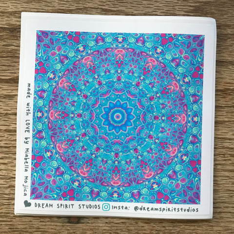 "Cells Mandala 2 4"" Sticker"