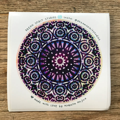 "Crown Chakra Mandala 4"" Sticker"