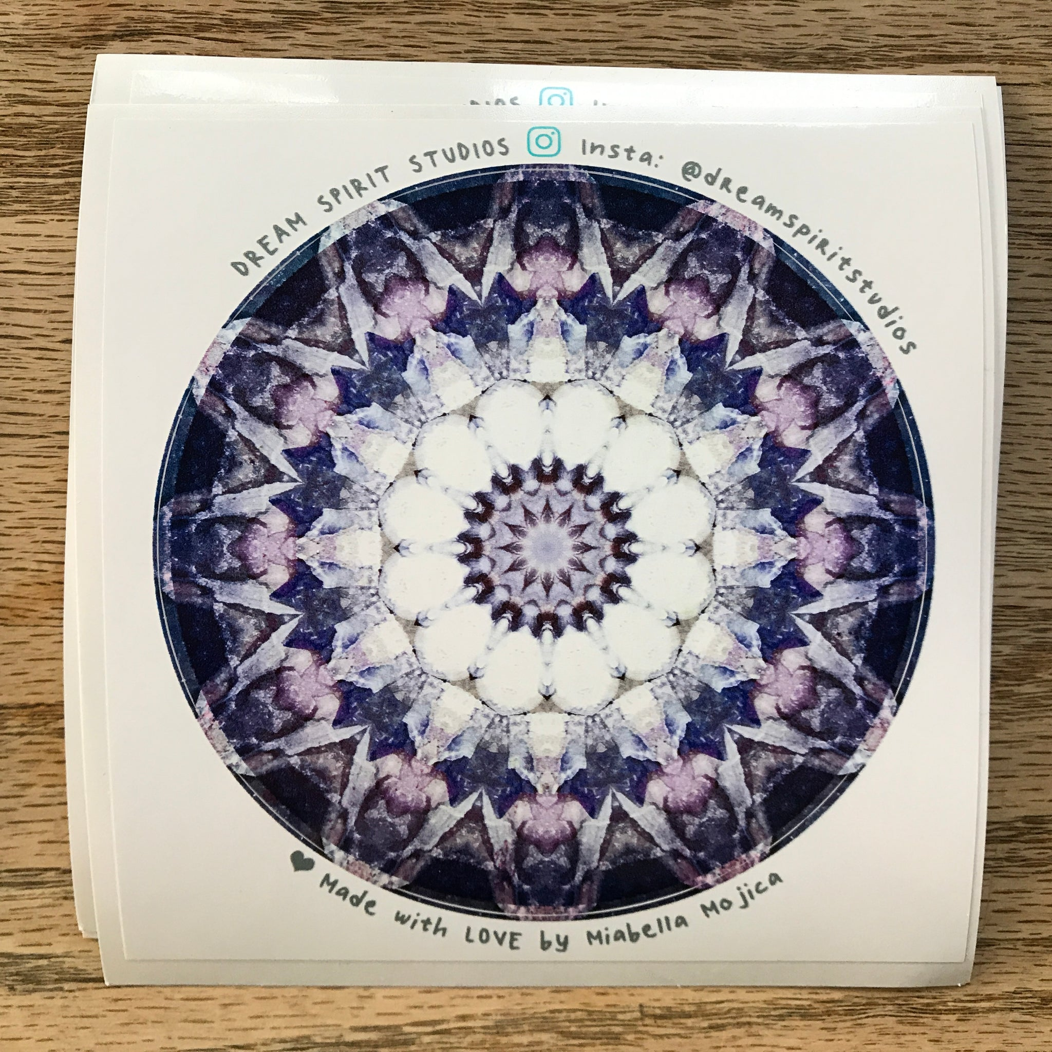 "Crystal Bowl Mandala 4"" Sticker"