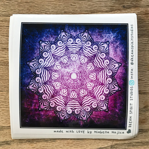 "Deli-Placate Mandala 4"" Sticker"
