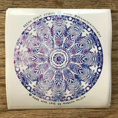 "Desert Flower Mandala 4"" Sticker"