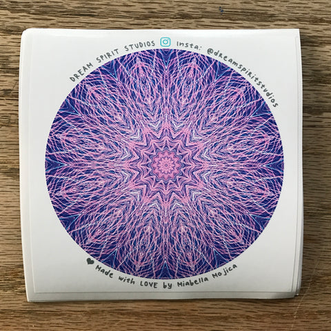 "Lavender Lights Mandala 4"" Sticker"