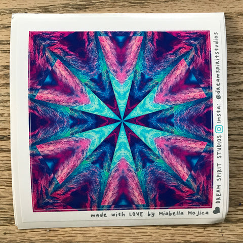 "Made of Stardust Mandala 4"" Sticker"
