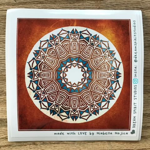 "Swiftsigh Mandala 4"" Sticker"