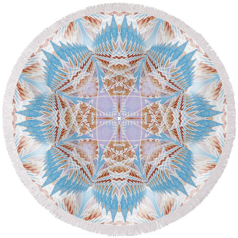 Round Beach Towel - Dreamcatcher Mandala