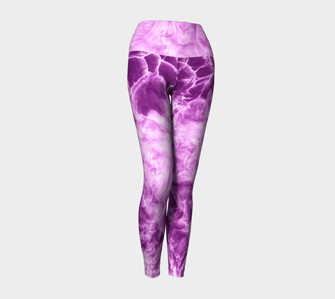 Cosmic Rush Purple Yoga Leggings