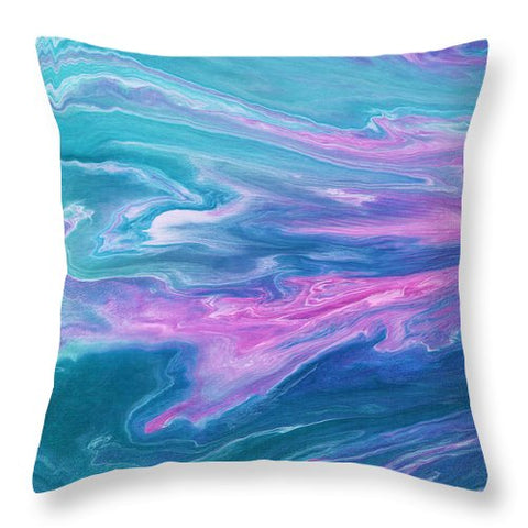 Flowscape - Throw Pillow