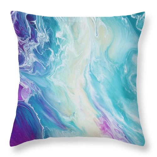 Gold Dragon Angel - Throw Pillow