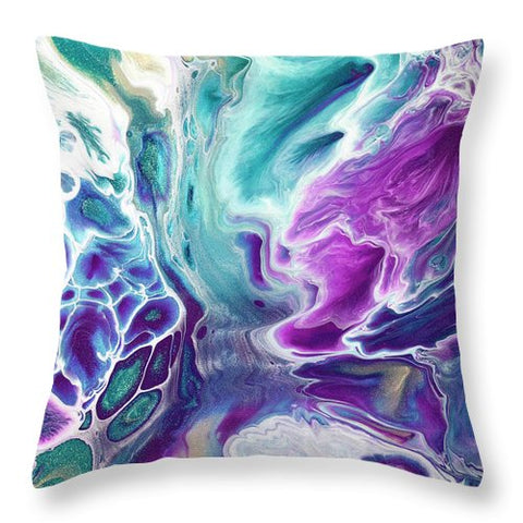 Gold Dragon Explosion - Throw Pillow