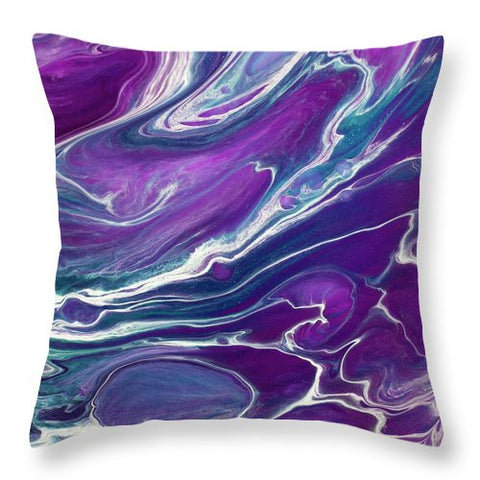 Gold Dragon Purple - Throw Pillow