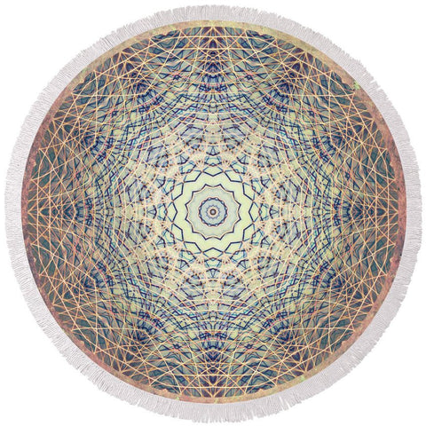 Round Beach Towel - Mama Rock Me Mandala