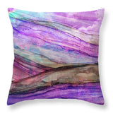 Space Rock Mountains 1 - Throw Pillow