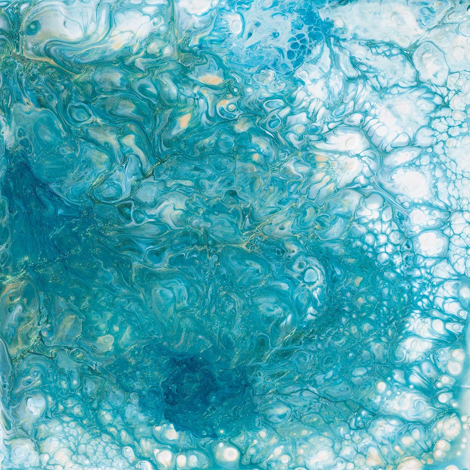 Thousand Aqua Pools - Original Painting